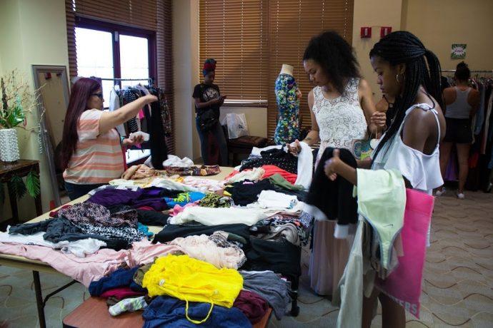 get organized, clothing swap