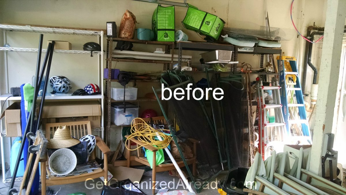 W Garage Organization Before